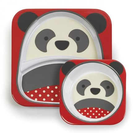 Set de Pratos 2un Zoo - Panda - Skip Hop