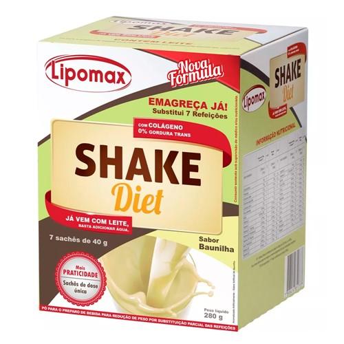 Shake Diet Lipomax Sabor Baunilha 280g