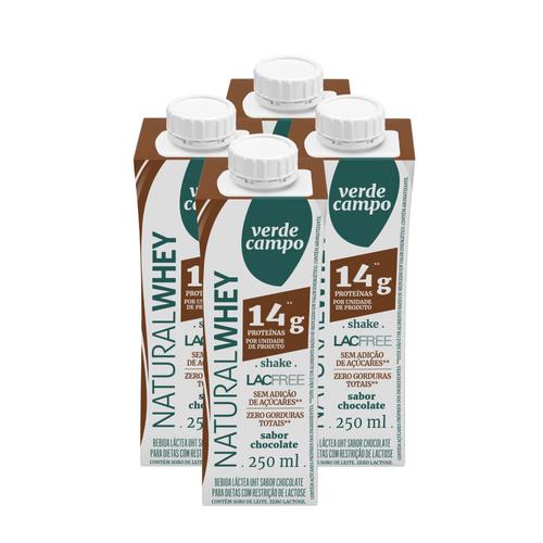 Shake Whey Chocolate 250 Ml (Pack 4 Unidades)