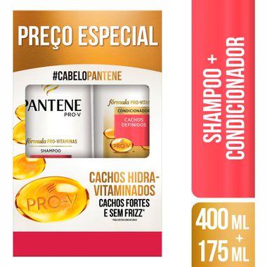 Shampoo 400ml + Condicionador 175ml Pantene Cachos Hidra-Vitaminados