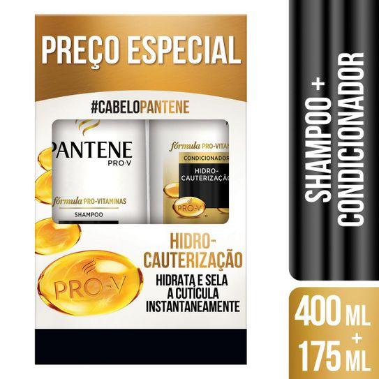 Shampoo 400ml + Condicionador 175ml Pantene Hidro-Cauterização