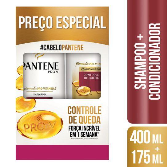 Shampoo 400ml + Condicionador Pantene Controle de Queda 175ml