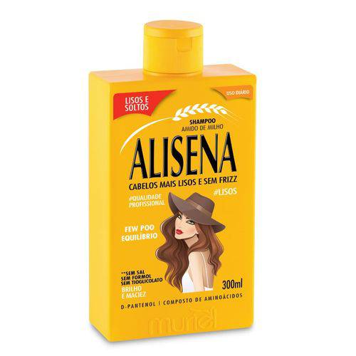 Shampoo Amido de Milho Alisena 300ml Muriel