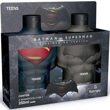 Kit 2 Shampoo 2 em 1 Batman Vs Superman 250ml
