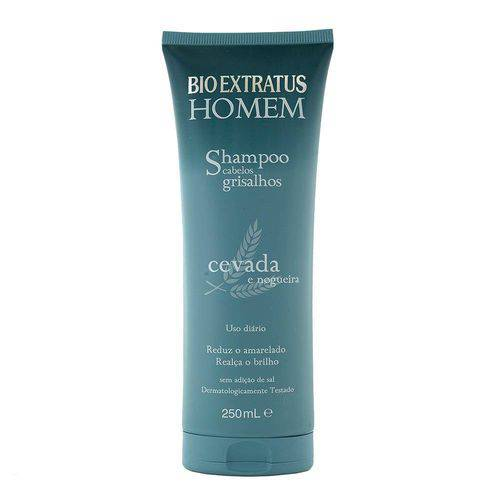 Shampoo Cabelos Grisalhos Homem 250ml - Bio Extratus