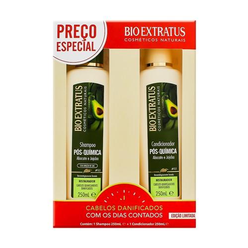 Shampoo + Condicionador Bio Extratus Pós Química 250ml Cada Preço Especial