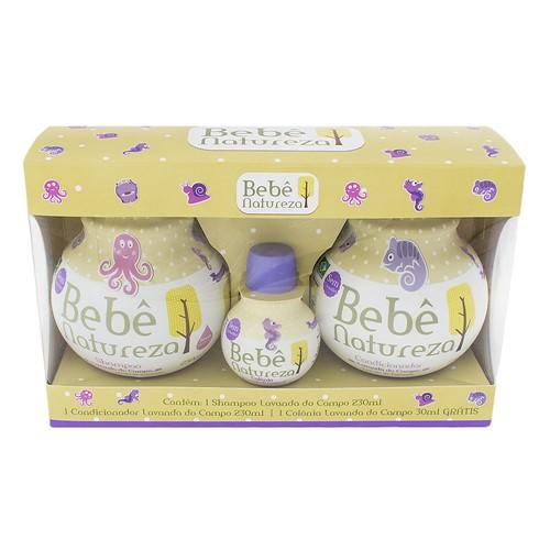 Shampoo + Condicionador Infantil Bebê Natureza Lavanda do Campo com 230ml Cada + Grátis Colônia Lavanda do Campo com 30ml
