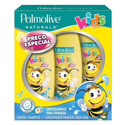 Shampoo + Condicionador Infantil Palmolive Naturals Kids Todo Tipo de Cabelo com 2 Shampoos + 1 Condicionador 350ml Cada