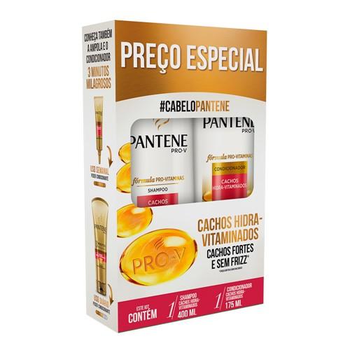 Shampoo + Condicionador Pantene Cachos Hidra-Vitaminados 400ml+175ml Preço Especial