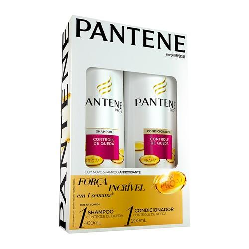 Shampoo + Condicionador Pantene Controle de Queda 400ml+200ml com Preço Especial