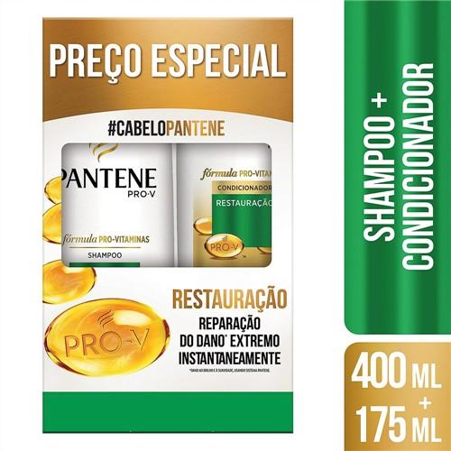 Shampoo + Condicionador Pantene Restauração 400ml+175ml Preço Especial