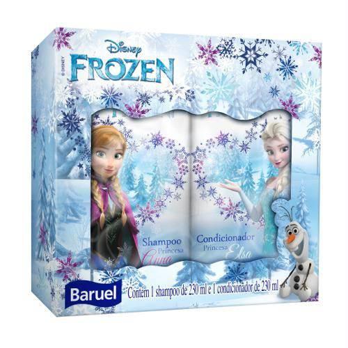 Shampoo e Condicionador Baruel Princesa Frozen 230 Ml