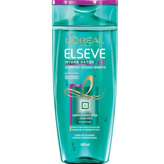 Shampoo Elseve Hydra Detox 48h Cabelos Oleosos Pontas Desitratadas 400ml