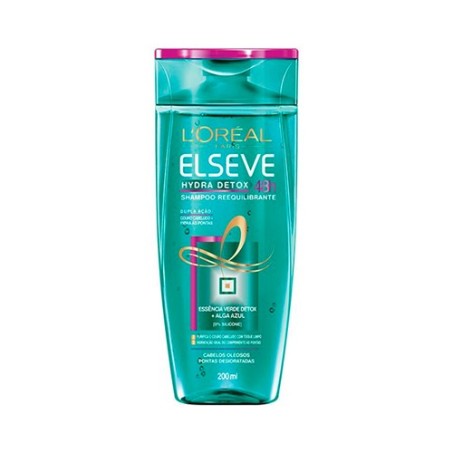 Shampoo Elseve Reequilibrante Elseve Hydra-Detox 200ml