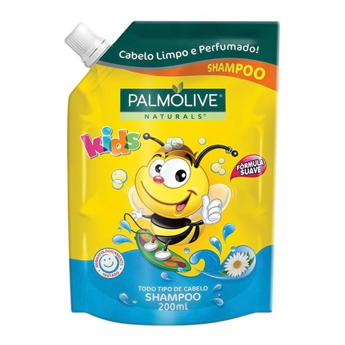 Shampoo Infantil Palmolive Naturals Kids Todo Tipo de Cabelo Refil 200ml