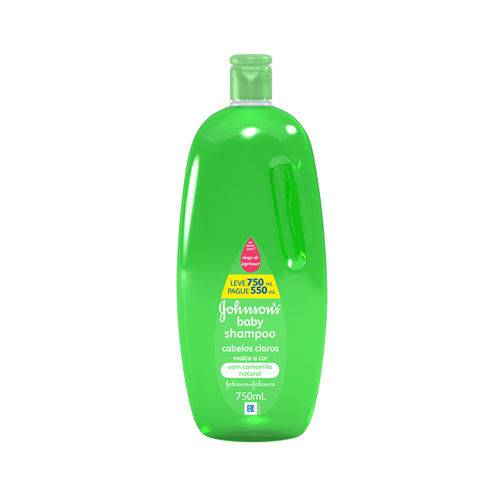 Shampoo Johnson & Johnson Baby Cabelos Claros 750ml Pague 550ml