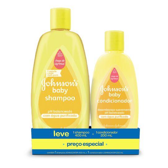 Shampoo Johnson & Johnson Baby 400ml + Condicionador Johnson & Johnson Baby 200ml Preço Especial