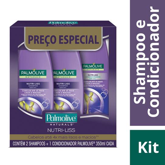 Shampoo Naturals 350ml Nutriliss com 02 Unidades + Condicionador Palmolive 350ml Nutriliss Preço Especial