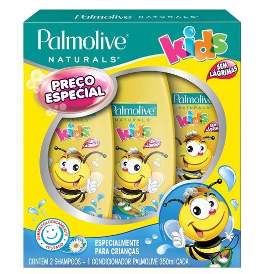 Shampoo Palmolive Naturals Kids 350ml com 02 Unidades + Condicionador Palmolive Naturals Kids Preço Especial