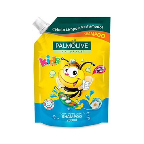 Shampoo Palmolive Naturals Kids Todos os Tipos de Cabelos Refil 200ml
