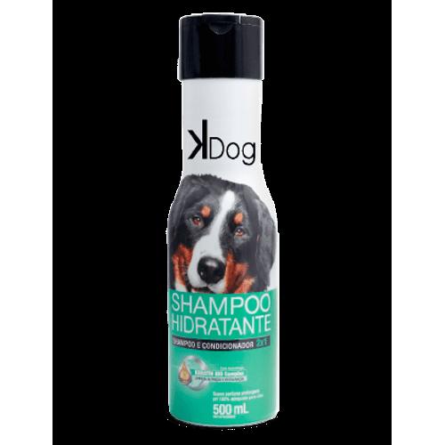 Shampoo Sanol KDog Hidratante 2x1 para Cães e Gatos 500ml