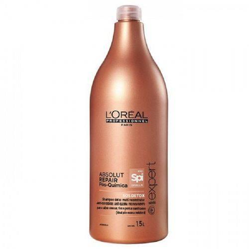Shampoo SOS Detox Loreal Absolut Repair Pós Química 1,5L