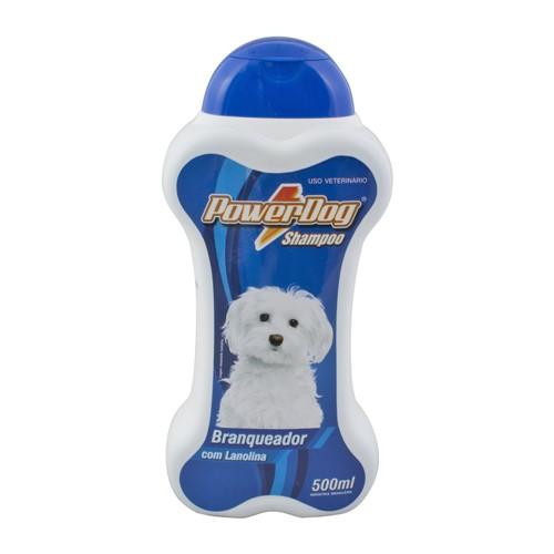 Shampoo Veterinário Powerdog Branqueador com 500ml