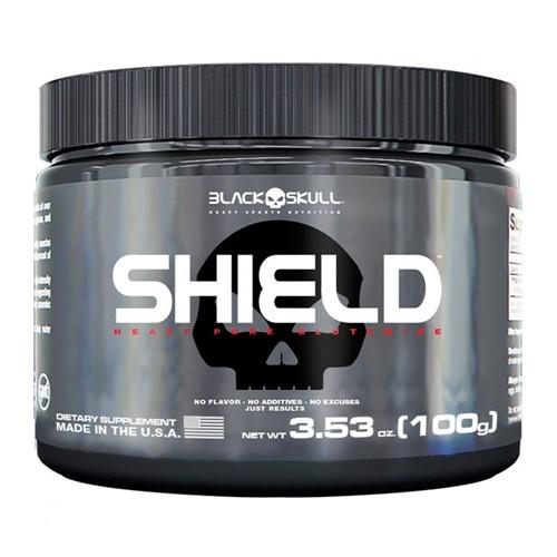 Shield Pure Glutamine Black Skull com 100g