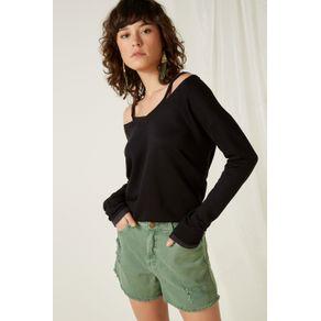 Short Color Cintura Alta Verde Oliveira - 34