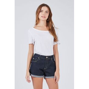 Short Denim Dark Azul Denim Escuro - 38