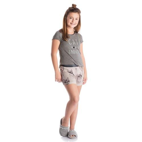 Short Doll Gatos Infantil Meia Calca/08