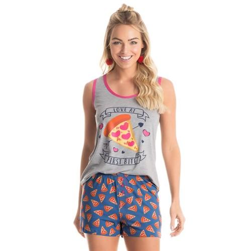 Short Doll Pizza Regata Azul/P
