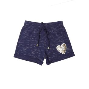 Short Infantil para Menina - Azul Marinho 10
