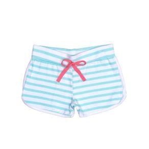 Short Infantil para Menina - Branco/verde 6