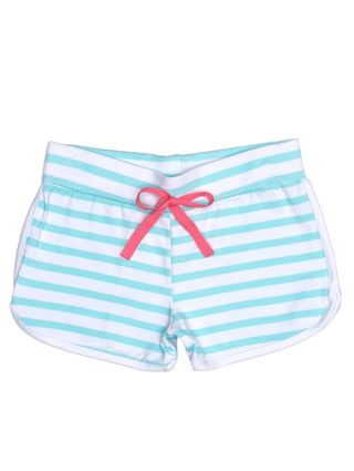 Short Infantil para Menina - Branco/verde