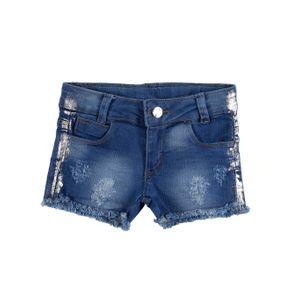 Short Jeans Infantil para Menina - Azul 1