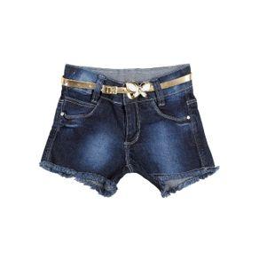 Short Jeans Infantil para Menina - Azul 4