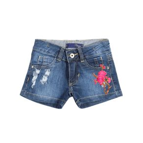 Short Jeans Infantil para Menina - Azul 6