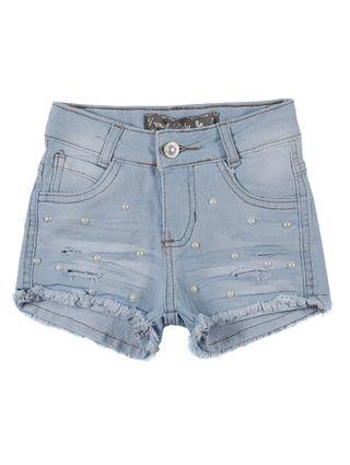 Short Jeans Infantil para Menina - Azul