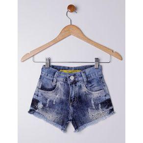 Short Jeans Juvenil para Menina - Azul 8