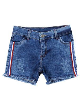Short Jeans Juvenil para Menina - Azul