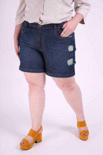 Short Jeans Destroyed Plus Size 46