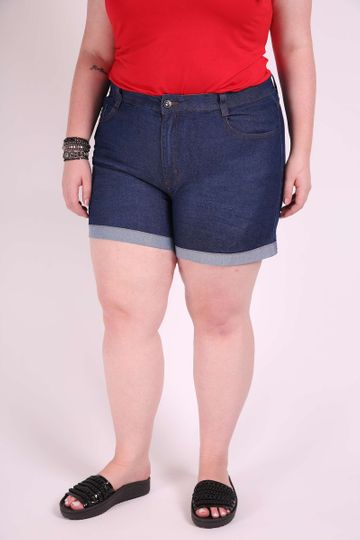 Short Jeans Barra Virada Plus Size 46
