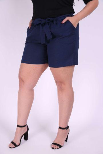 Short´s Linho Plus Size Azul Marinho EX