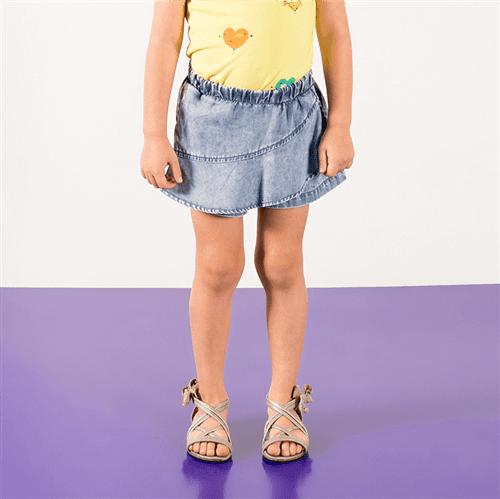 Short Saia Folhinha Pop Jeans/08