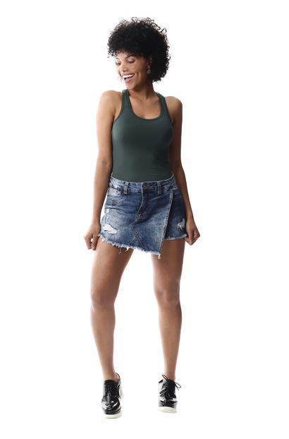 Short Saia Jeans Feminino - 256584 36