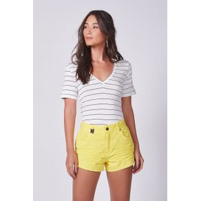 Short Sarja Basic Amarelo Daiquiri - 38