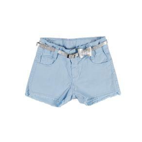 Short Sarja Infantil para Menina - Azul 6