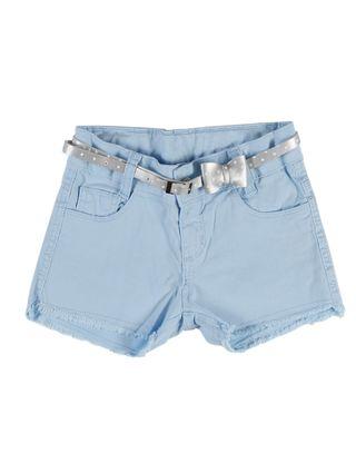 Short Sarja Infantil para Menina - Azul