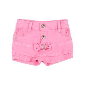 Short Sarja Infantil para Menina - Rosa 2